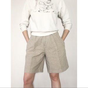 Vintage 90s Esprit High Waist Linen Blend Shorts